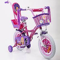 """Детский велосипед Beauty-2 Barbie 14"""" для девочек от 3 до 6 лет"""
