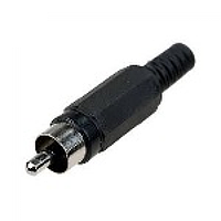 Разъем RCA под кабель под пайку (пластмасса) Black