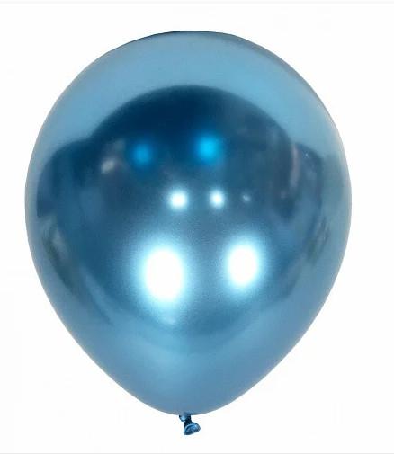 """Шары воздушные хром синий 12"""" (50 шт/уп), Китай"""