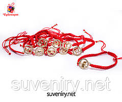 Браслет червона нитка зі знаком зодіаку всі види зодіаку