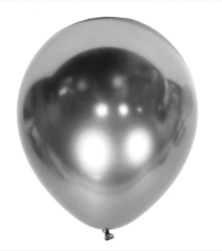 """Шары воздушные хром серебро 12"""" (50 шт/уп), Китай"""
