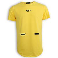 Футболка мужская желтая с принтом OFF-WHITE №5 Ф-11 YEL XL(Р) 19-644-020