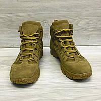 Ботинки тактические мужские летние кожаные 4с койот, фото 1