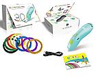 3д Ручка, Ручка 3D для детского творчества бирюзовая K9901, фото 10
