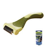 Инструмент Safari Shed Magic для линяющей шерсти собак, маленький W6125_NEW