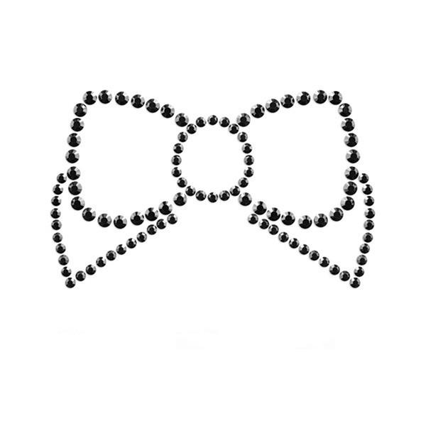Bijoux Indiscrets (Испания) Украшения для груди со стразами MIMI Bow цвет: черный  Bijoux Indiscrets (Испания)