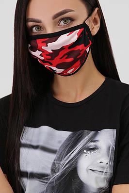 Захисна багаторазова маска з принтом