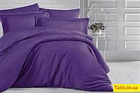Полуторный комплект постельного белья ST-1011, постельное белье премиум класса из страйп-сатина