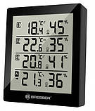 Термометр-гигрометр Bresser Temeo Hygro Quadro black - внут. и внеш. температура и влажность, датчика 3 шт., фото 2