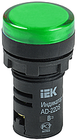 Лампа AD-22DS LED-матрица d22мм зеленый 110В AC/DC IEK (BLS10-ADDS-110-K06)