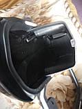Защита ног мотоциклиста черная с багажными кофрами на замках., фото 7