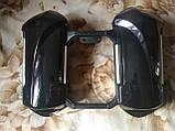 Защита ног мотоциклиста черная с багажными кофрами на замках., фото 4