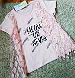 Нарядная футболка  для девочек 6-13 лет Турция,Little star, фото 2