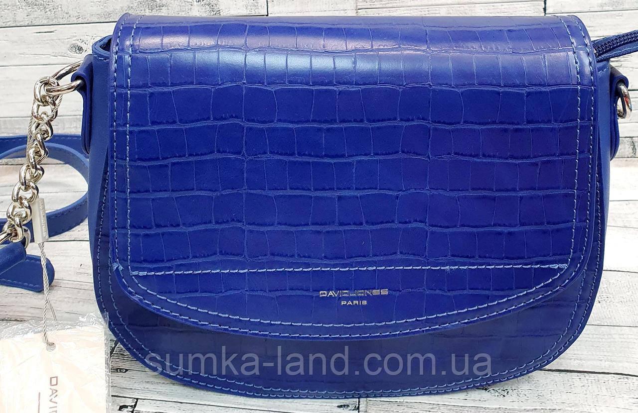 Женский синий клатч David Jones Люкс качества из искусственной кожи под крокодила 23*18 см