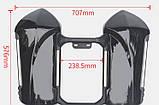 Защита ног мотоциклиста черная с багажными кофрами на замках., фото 3