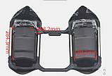 Защита ног мотоциклиста черная с багажными кофрами на замках., фото 2