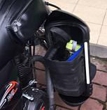Защита ног мотоциклиста черная с багажными кофрами на замках., фото 10