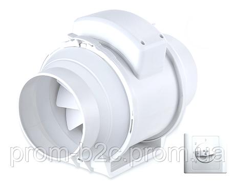 Вентилятор канальный круглый Турбовент ПВК 125, фото 2