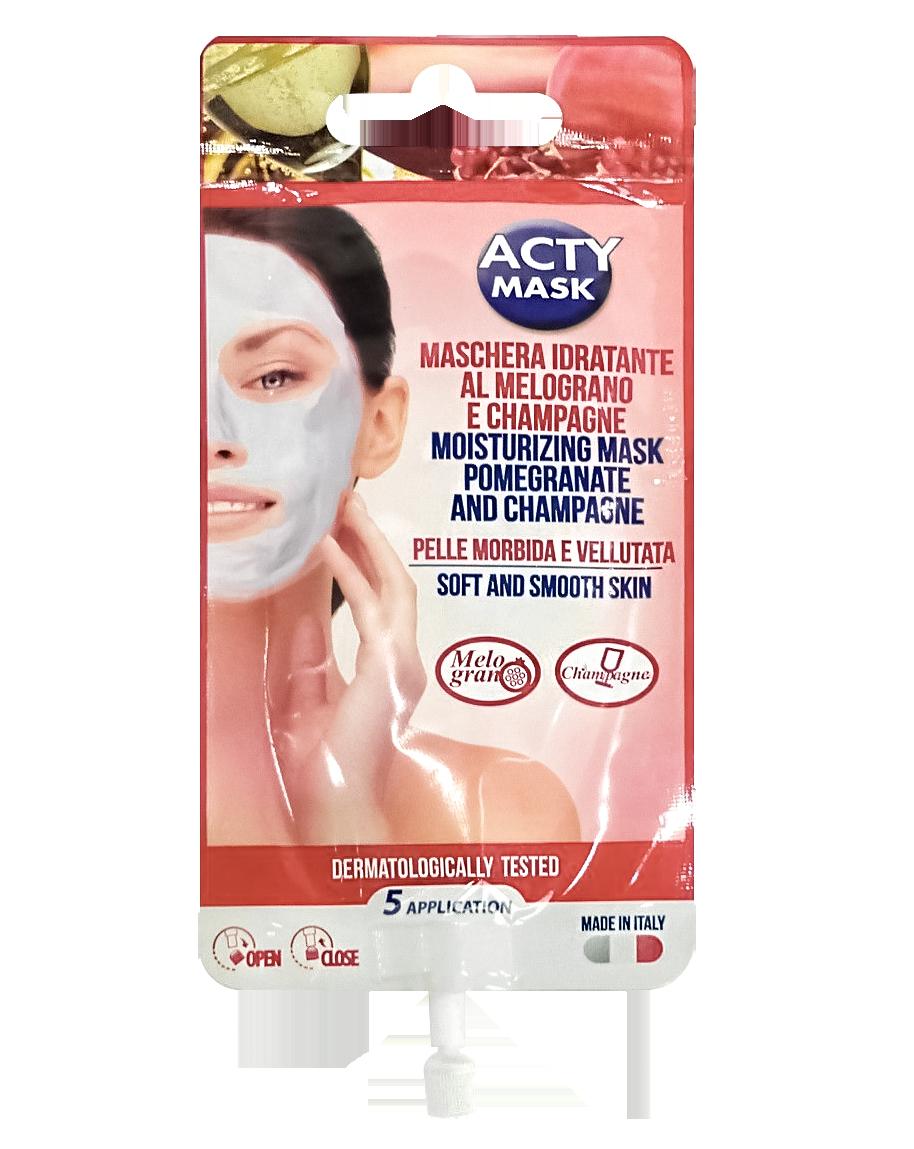 Ревитализирующая крем-маска для лица с гранатом и шампанским