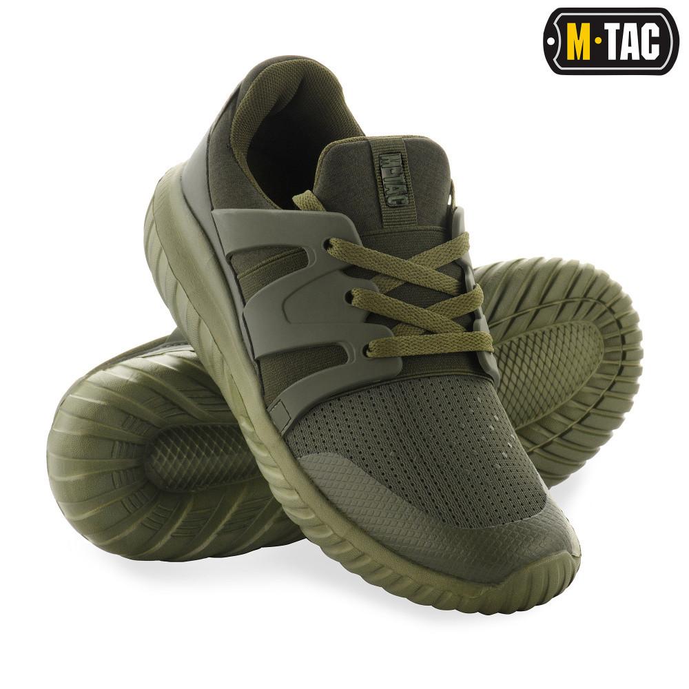 Кросівки чоловічі тактичні, взуття тактична, кросівки М-ТАС TRAINER PRO VENT OLIVE, взуття чоловічий спорт