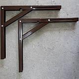 Консоль откидная 300 мм. коричневая, для раскладного стола., фото 3
