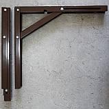 Консоль откидная 300 мм. коричневая, для раскладного стола., фото 4