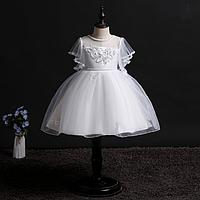 Нарядное Элегантное белое платье для девочкиElegant elegant white dress for the girl, фото 1
