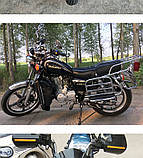 Защита ног мотоциклиста черная с багажными кофрами на замках., фото 9