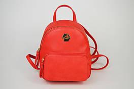 Рюкзак красный David Jones 5526 экокожа