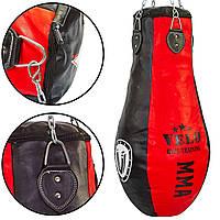 Чехол боксерского мешка Кегля комбинированная кожа (без наполнителя) VELO VL-3382-90 (d-30см, h-90см)