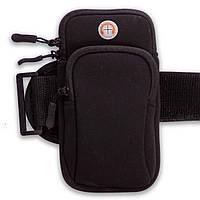 Чехол-кошелек на руку для бега C-0326 (полиэстер, р-р 9x7см, крепление на липучке, цвета в ассортименте)