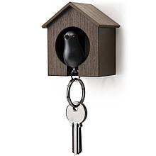 Ключница QUALY Sparrow Keyring brown-black QL10091