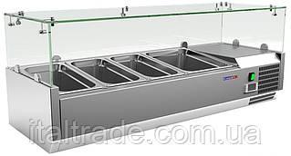 Витрина холодильная для топпинга Gooleq VRX 1200/380