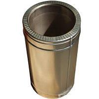 Труба утепленная d 110/180 нержавейка в оцинковке длина 1 м (толщина 0,6 мм), фото 1