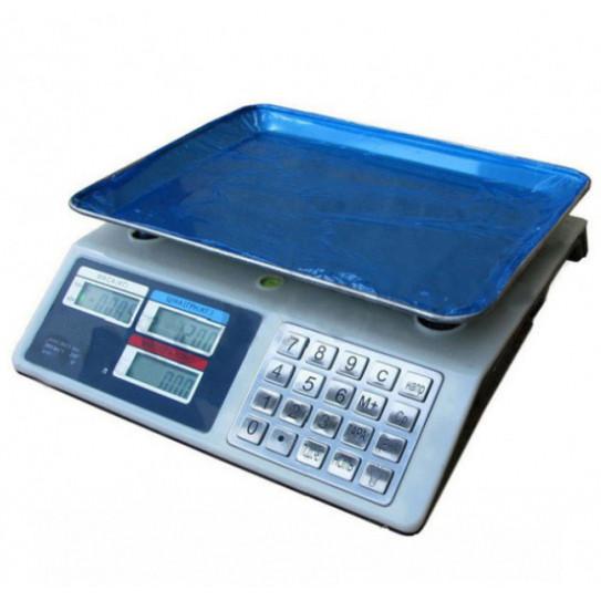 Торгові ваги Domotec MS-982s до 50кг з лічильником ціни