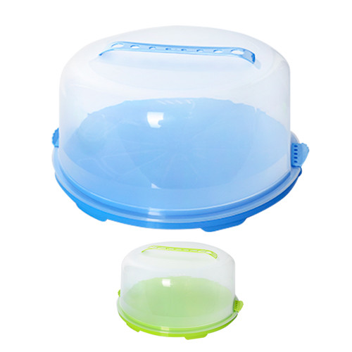 Тортовница с крышкой круглая пластик 32*13см