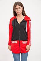 Спорт кофта женская 119R400 цвет Черно-красный
