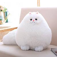 Мягкая игрушка подушка Кот белый