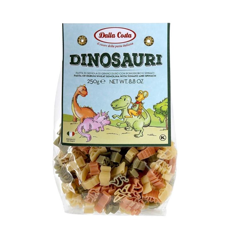 Макарони DALLA COSTA Dinosauri з томатом і шпинатом 250 г 12 шт/ящ 1626