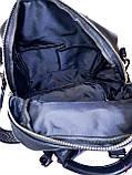 Кожаная женская сумка-рюкзак Farfalla Rosso Черный (01076), фото 4