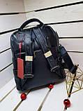 Кожаная женская сумка-рюкзак Farfalla Rosso Черный (01076), фото 6