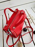 Кожаная женская сумка PolinaEiterou Красный (01117), фото 5