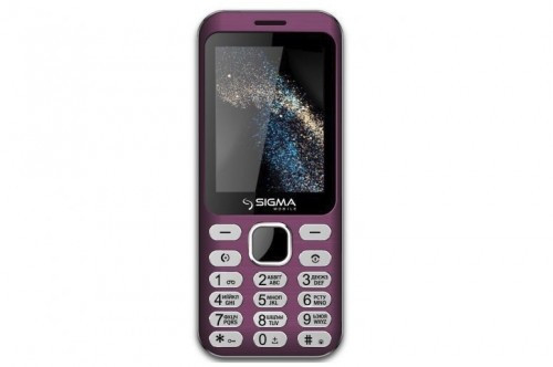 Кнопочный телефон с мп3 и фонариком на 2 сим карты Sigma mobile X-style 33 Steel Light Pink