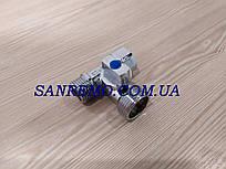 "Хромированный кран приборный шаровой SD Forte 1/2""х3/4""х1/2""трехходовой"