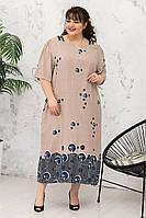 Платье больших размеров из штапеля Зента р. 62-68, фото 1
