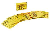Игральные карты золотые IG-4568 GOLD 100 DOLLAR (колода в 54 листа, толщина-0,28мм)