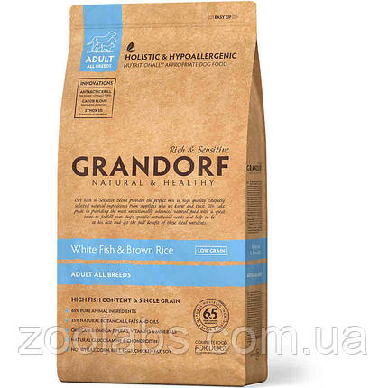 Корм Grandorf для собак с рыбой   Grandorf White Fish & Rice All Breeds 1 кг, фото 2