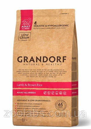 Корм Grandorf для собак средних пород с ягненком   Grandorf Lamb & Rice Adult Medium Breed 1 кг, фото 2