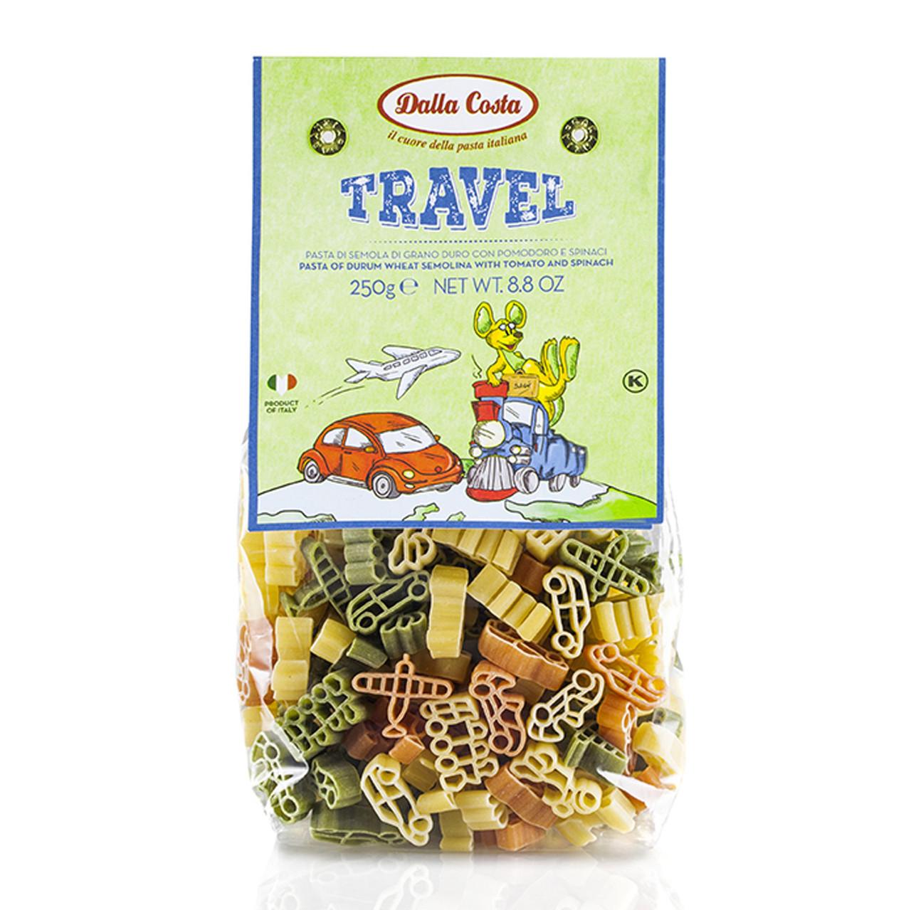 Макарони DALLA COSTA Travel Pasta з томатом і шпинатом 250г 12шт/ящ 8111