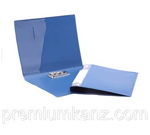 Папка для бумаг с прижимом, синяя FORPUS